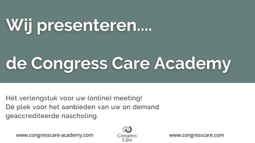 We zijn live! – de Congress Care Academy